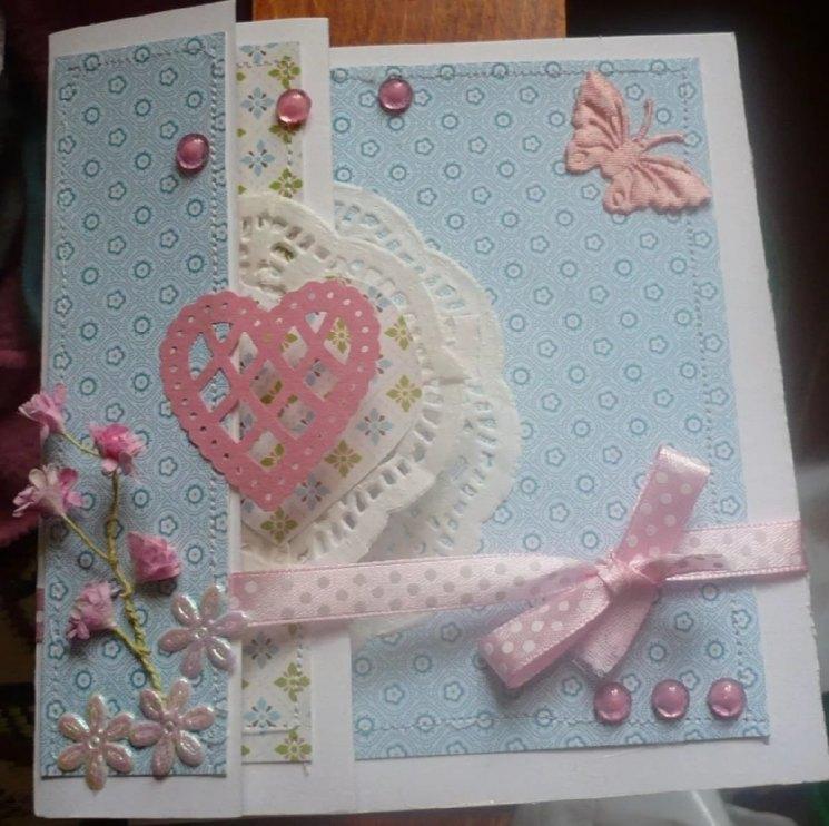 открытка своими руками сделала моя дочь