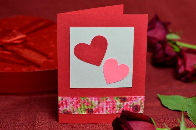 Сделать сердечко открытку