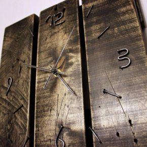 Настенные часы своими руками: 80 фото-идей для вдохновения. Дизайн настенных часов своими руками — яркие часы из пластиковых ложек, часы с принтом Луны, эко-часы из мха, пробкового дерева, вязаные часы с кукушкой, часы из куска фанеры